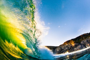 Emerald Warp - Cornwall Wave and Surf Photography Prints