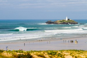 Godrevy on Fire - Cornwall Wave and Surf Photography Prints