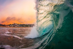 Porthmeor Glow - Cornwall Wave and Surf Photography Prints
