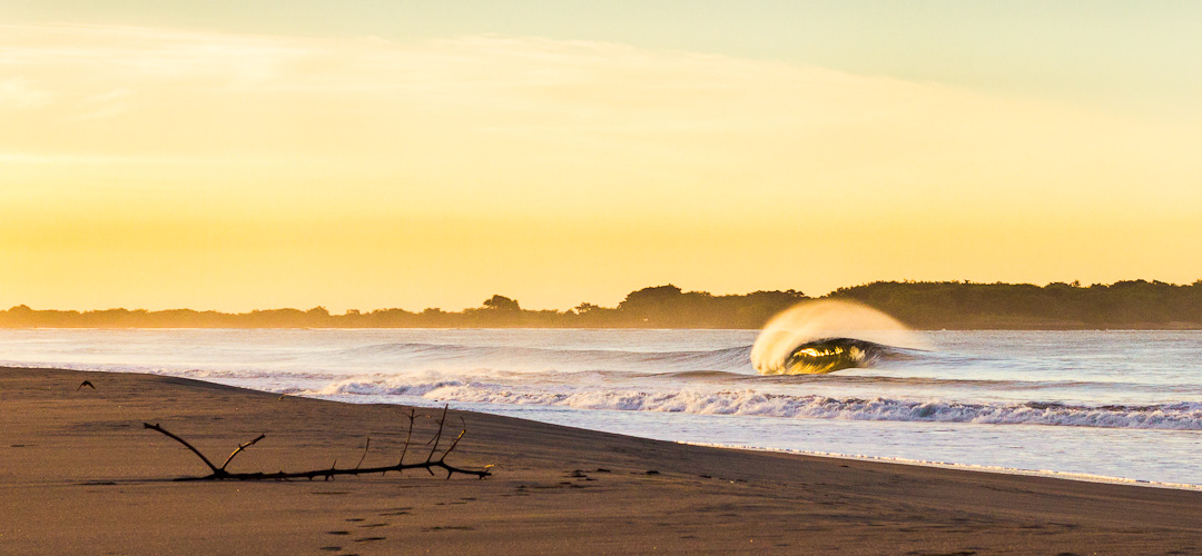 Sunrise at the Boom Surfing Nicaragua