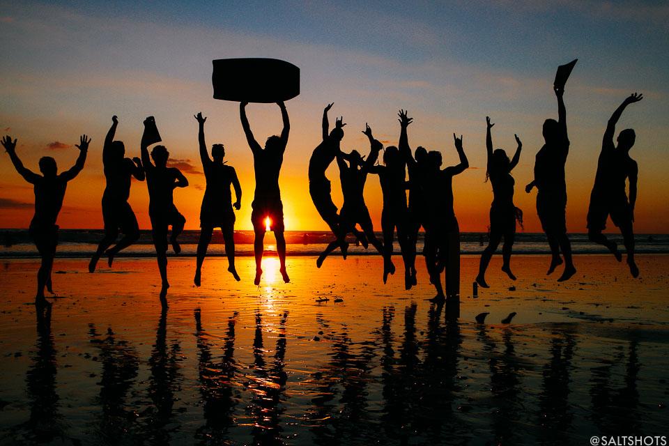 costa rica surf photography santa teresa sunset jump