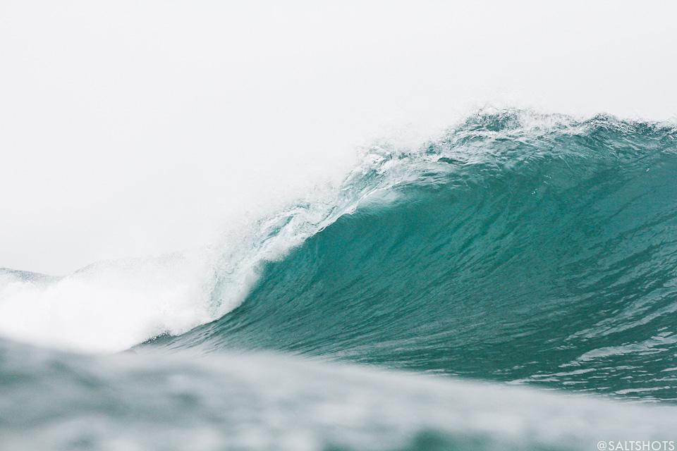 empty blue barrel bodyboard holidays surfing photography