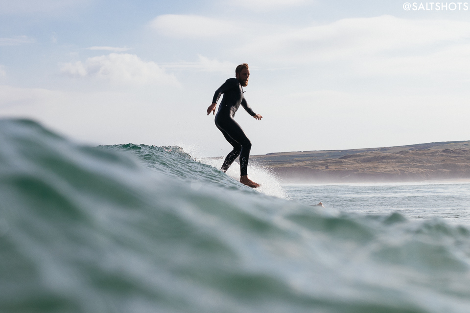 mike lay surfing gwithian photo